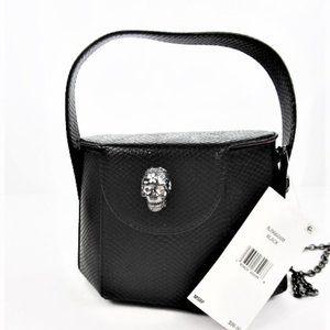 Black Pill Box Handbag By Betsey Johnson-NWT